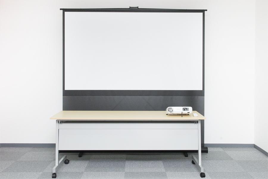 プロジェクター + 大型スクリーン
