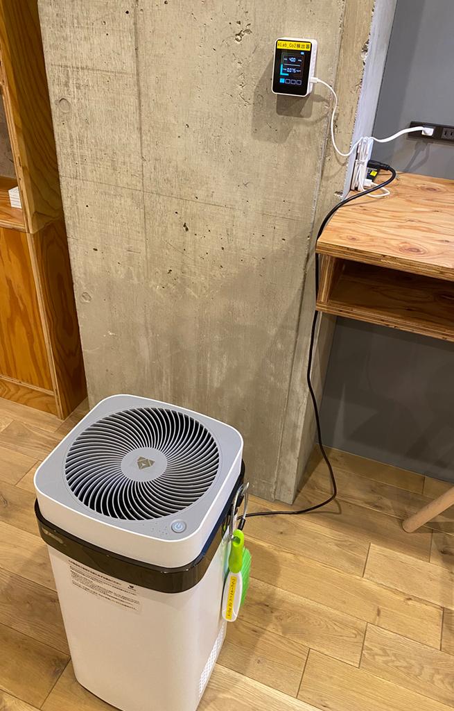 空気清浄機・CO2検出器